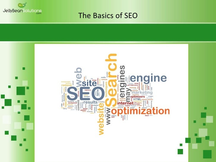 The basics of seo presentation w template