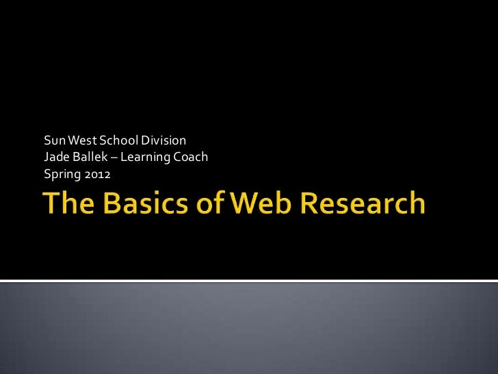 basics of web research for ela 10