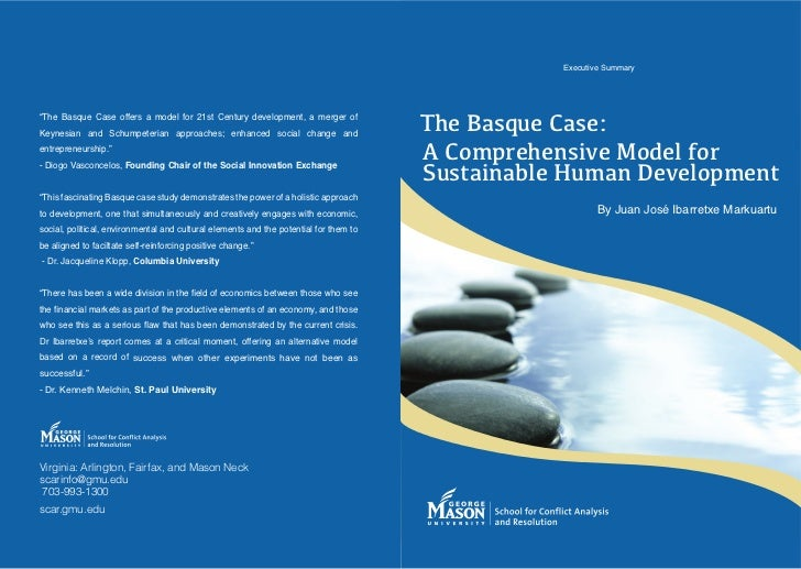 The basque case  a comprehensive model for sustainable human development