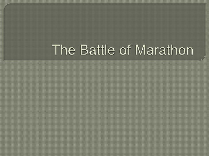 The Battle of Marathon<br />