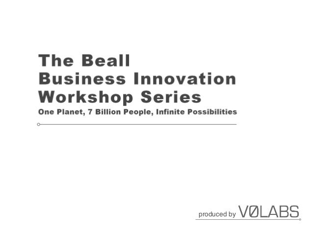 The Beall Business Innovation Workshop - Session 1