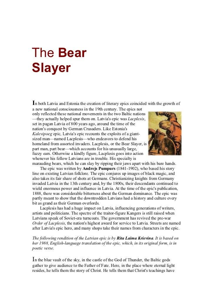 The bear slayer