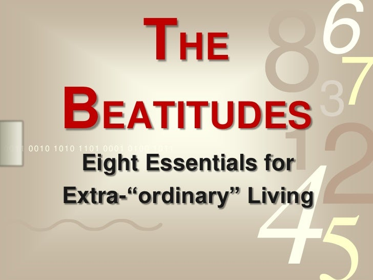 The Beatitudes - Week 3
