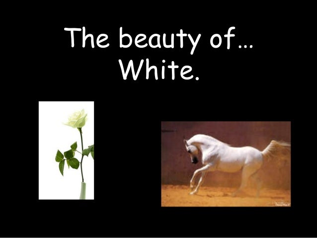 The beauty of… White.