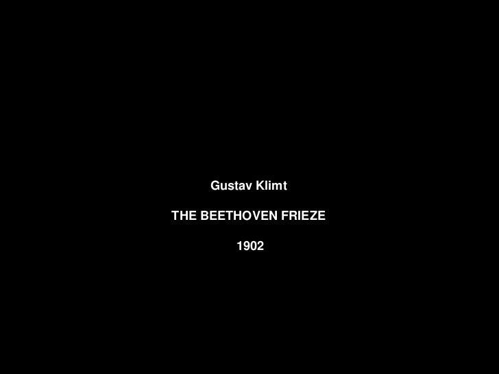 Gustav Klimt.THE BEETHOVEN FRIEZE         1902