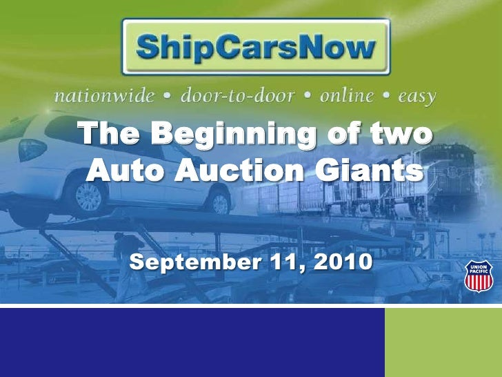 The Beginning of two Auto Auction Giants<br />September 11, 2010<br />