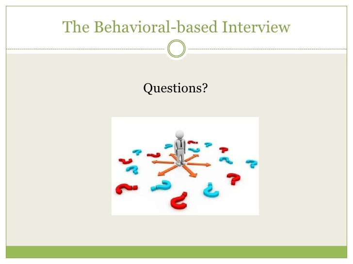 the behavioral based interview