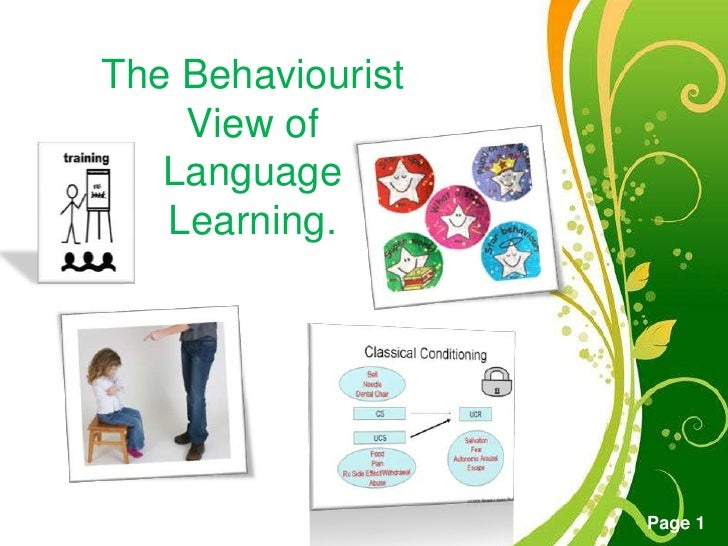 TheBehaviourist View of LanguageLearning.<br />