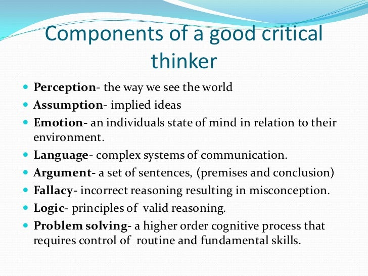 Critical thinking application paper 480 assessment case