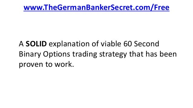 Binary option 60 second trades