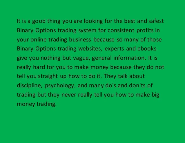 Binary options trading strategy software companies