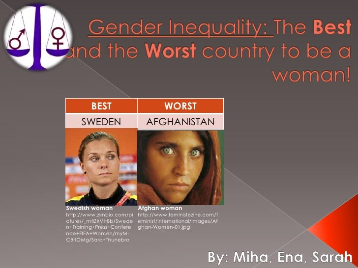 The best and the worst countryto be a women sarah ena miha