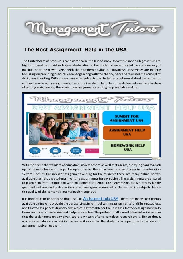 assignment writing help usa