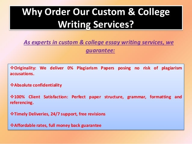 College paper writing service minutes