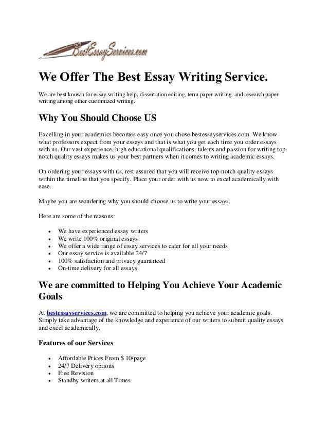 best essay authors