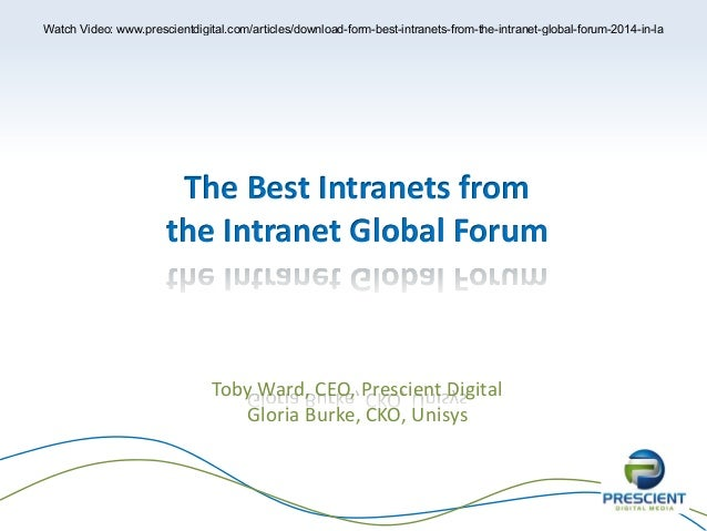 Best Intranets from the Intranet Global Forum (LA 2014)
