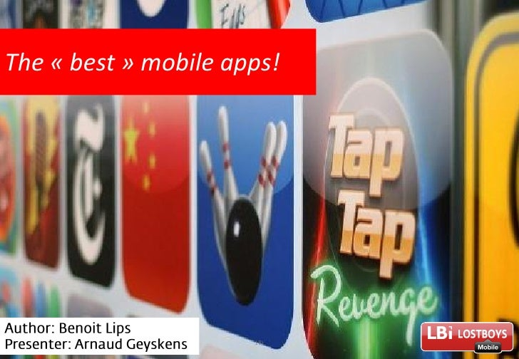 The « best » mobile apps!