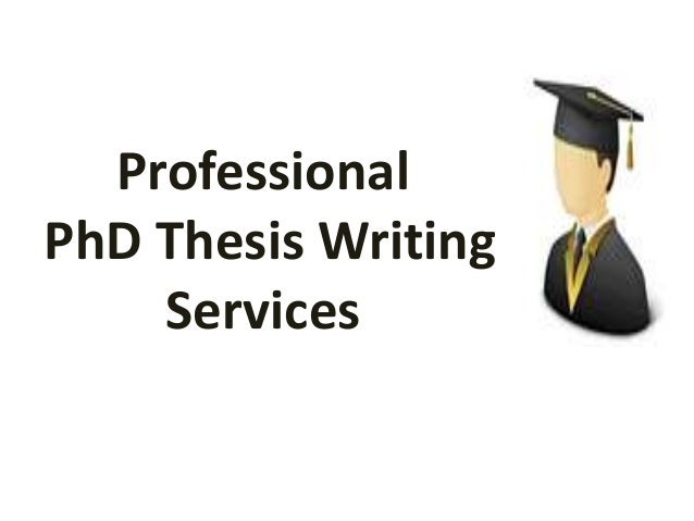 Phd thesis writers