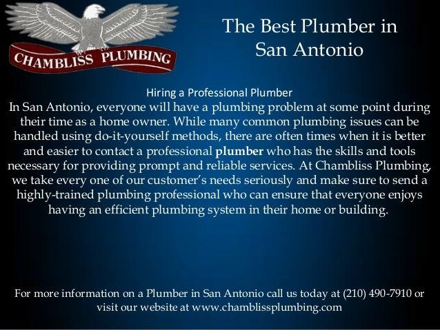 The Best Plumber in San Antonio
