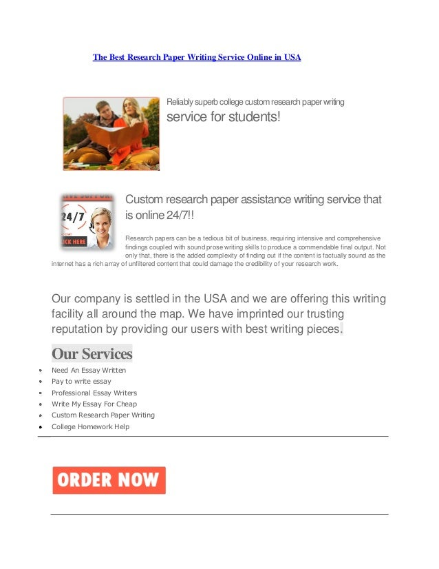Essay writing service usa