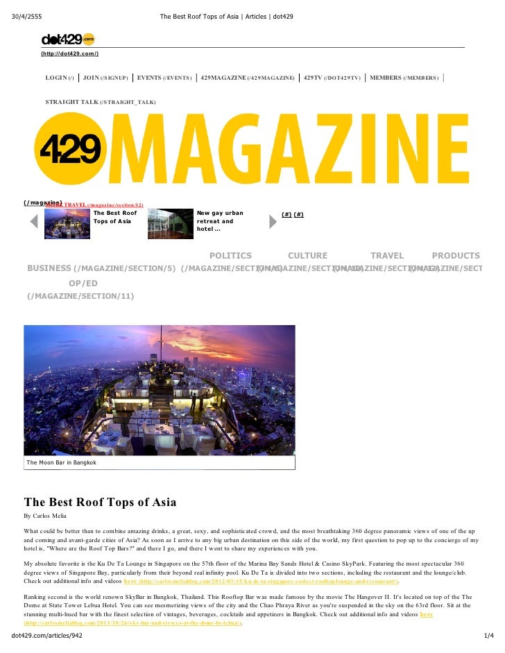 30/4/2555                                             The Best Roof Tops of Asia | Articles | dot429         (http://dot42...