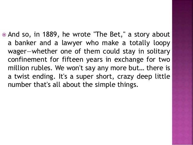 The bet by anton chekhov?