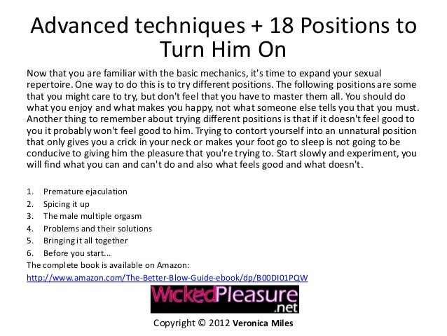 Tips for great blowjob