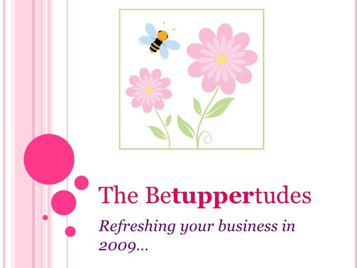 The Betuppertudes<br />Refreshing your business in 2009…<br />