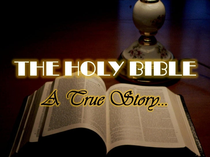 The Bible: A True Story