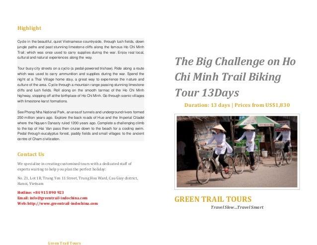The big challenge on ho chi minh trail biking tour 13 days