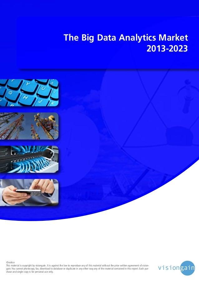 The big data analytics market 2013 2023