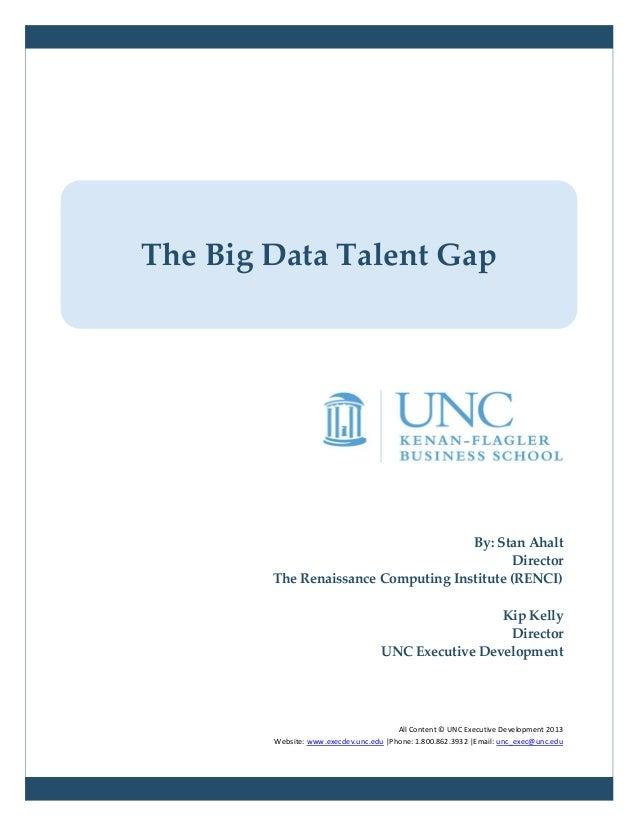 The Big Data Talent Gap