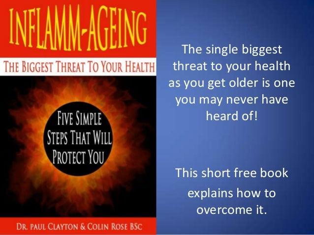 The single biggest threat to your health as you get older is one you may never have heard of! This short free book explain...