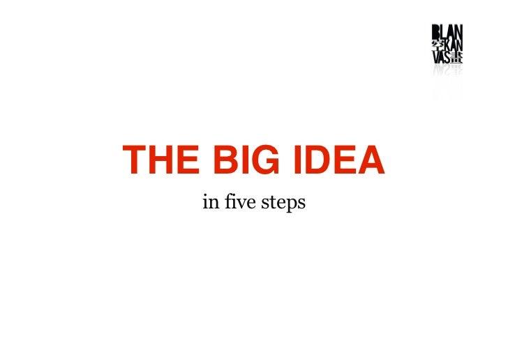 THE BIG IDEA    in five steps