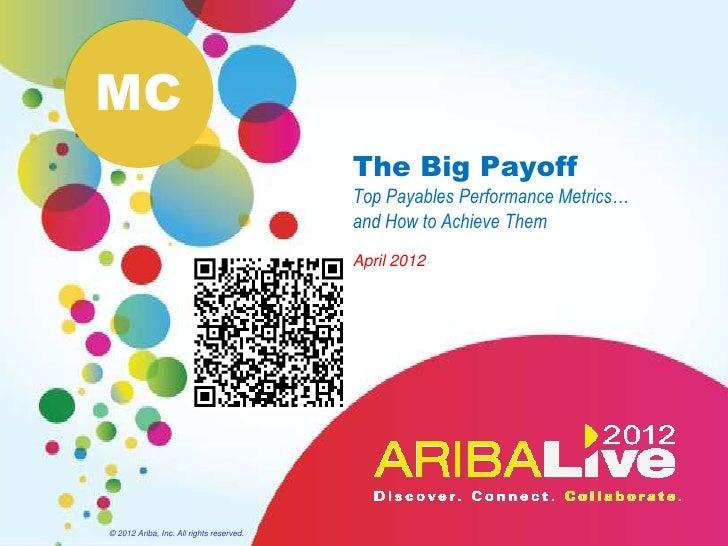 MC                                          The Big Payoff                                          Top Payables Performan...