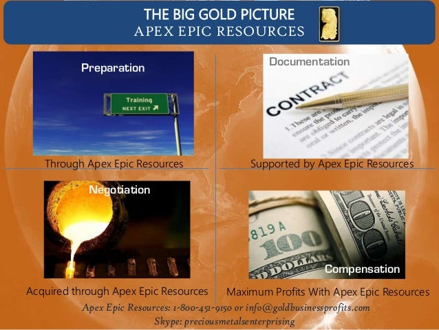 THE BIG GOLD PICTURE APEX EPIC RESOURCES Preparation  Through Apex Epic Resources  Documentation  Supported by Apex Epic R...