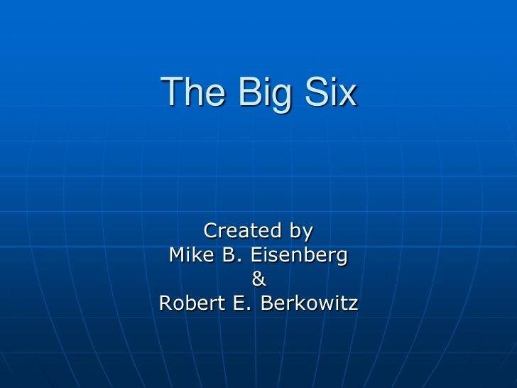 The Big Six Research Skills