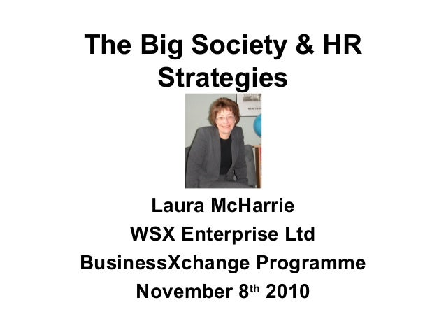 The Big Society & Hr Strategies