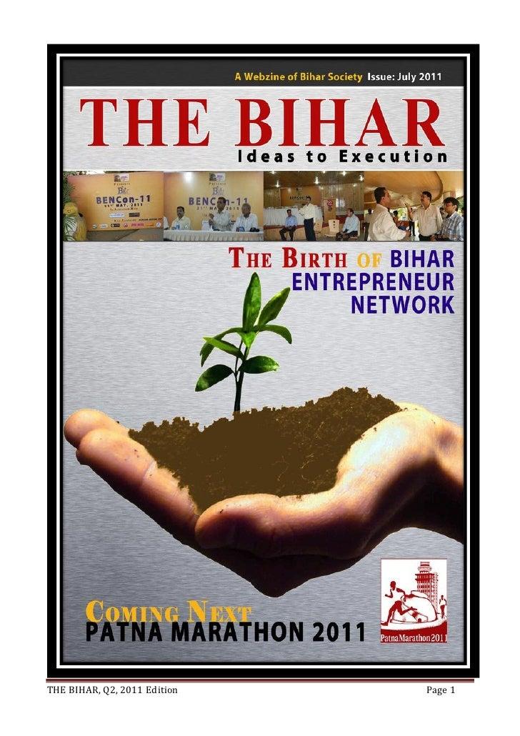 THE BIHAR, Q2, 2011 Edition   Page 1