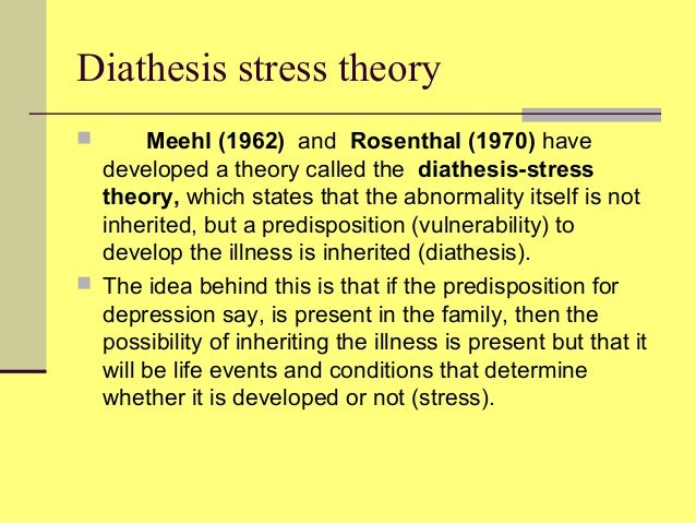 Write my diathesis stress disorder