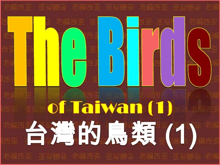 The birds of taiwan (1) 台灣的鳥類 (1)