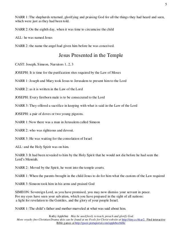 Nativity Christmas Play Script
