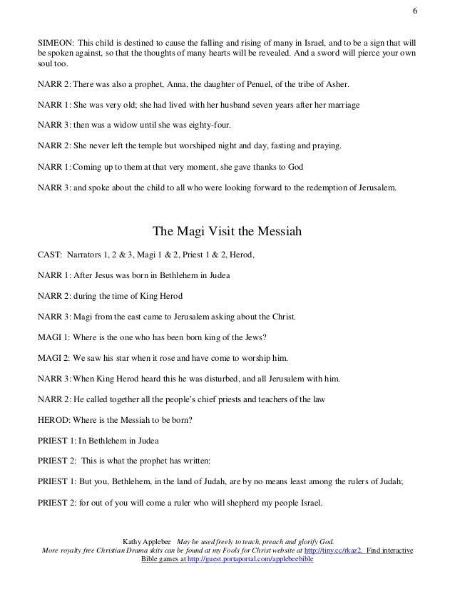 The Birth Of Jesus Reader S Theater Script