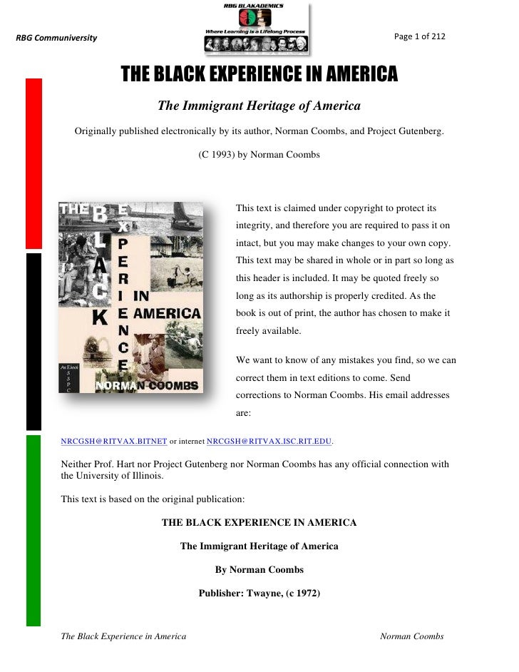 the african american experience pdf