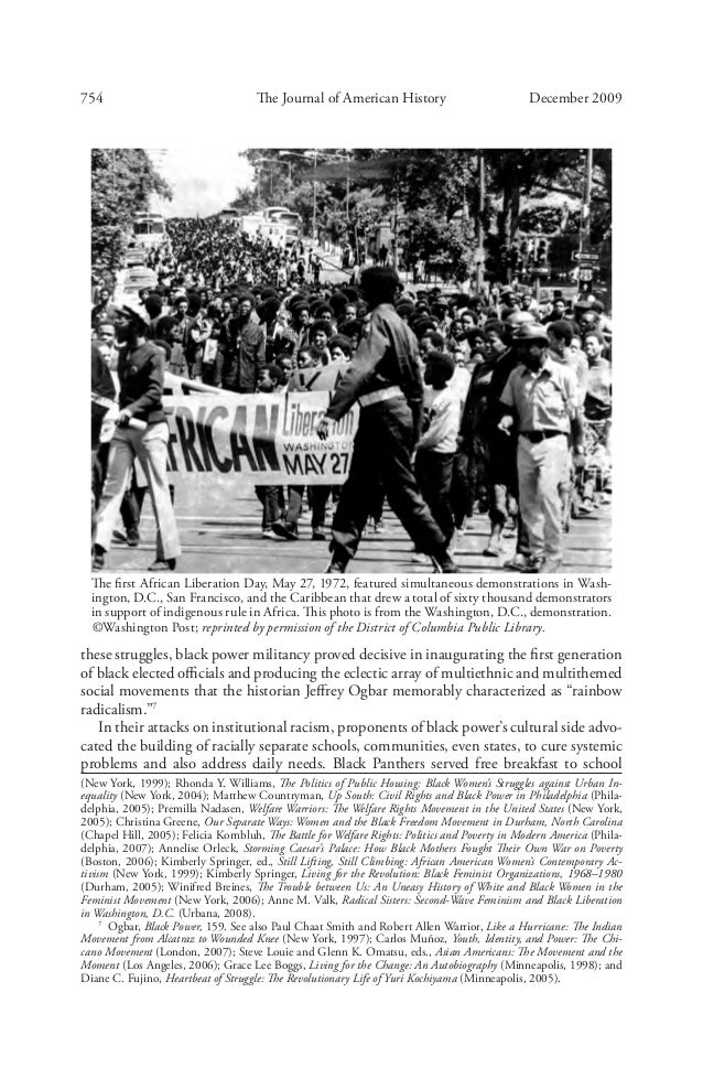 essay on the black power movement