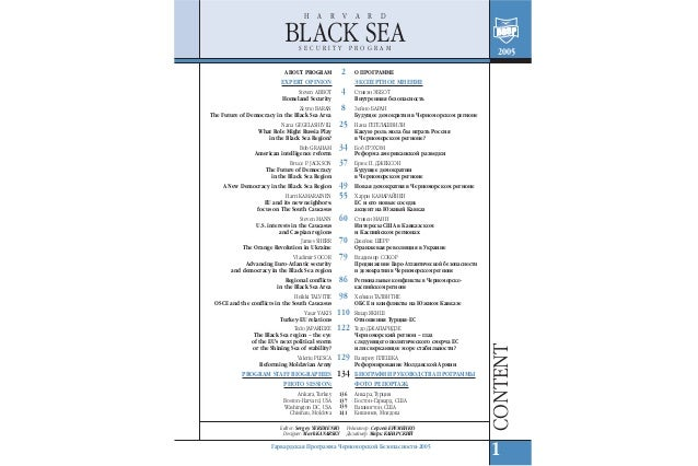 The black sea security program
