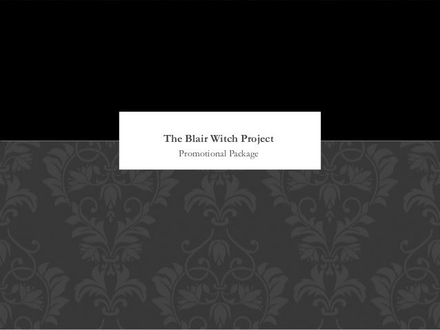 Promotional Package The Blair Witch Project
