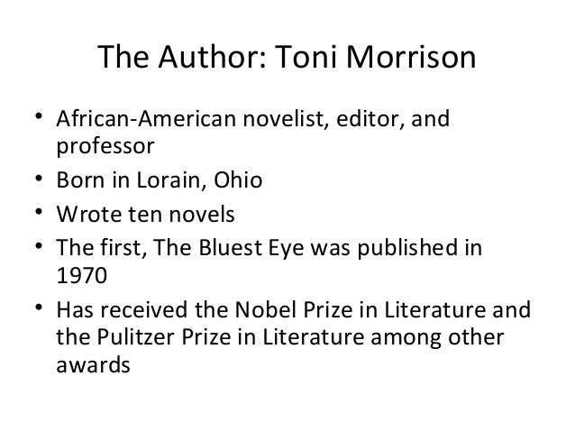 an analysis of toni morrisons novel the bluest eyes Toni morrison's the bluest eyes: use of color toni morisson's the bluest eye: summary & analysis book novel the bluest eyes toni morrison use of color.