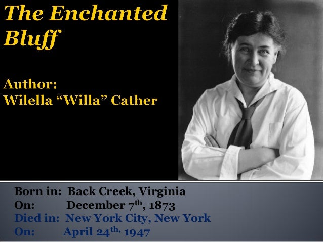 English 102 Willa Cather 6pm