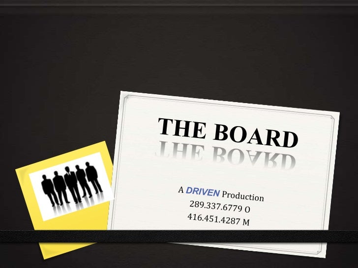 The Board TV series promotional package